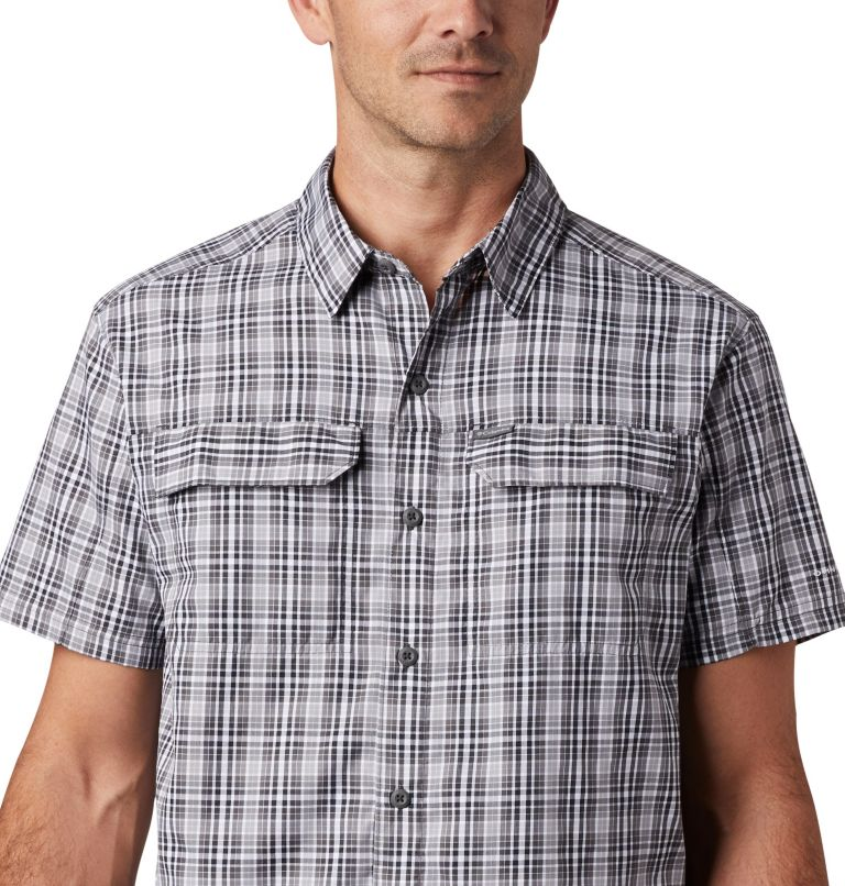 Silver Ridge™ 2.0 Multi Plaid S/S Shirt | 011 | L Men's Silver Ridge™ 2.0 Multi Plaid Short Sleeve Shirt, Black Gingham, a2