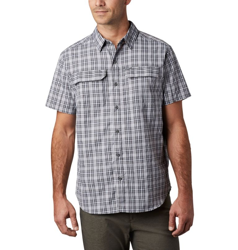 Silver Ridge™ 2.0 Multi Plaid S/S Shirt | 011 | L Men's Silver Ridge™ 2.0 Multi Plaid Short Sleeve Shirt, Black Gingham, front