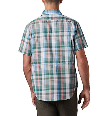 Men's Silver Ridge™ 2.0 Multi Plaid Short Sleeve Shirt Silver Ridge™ 2.0 Multi Plaid S/S Shirt | 369 | M, Thyme Green Multi Plaid, back