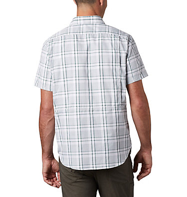 Men's Silver Ridge™ 2.0 Multi Plaid Short Sleeve Shirt Silver Ridge™ 2.0 Multi Plaid S/S Shirt | 369 | M, Rain Forest Grid Plaid, back