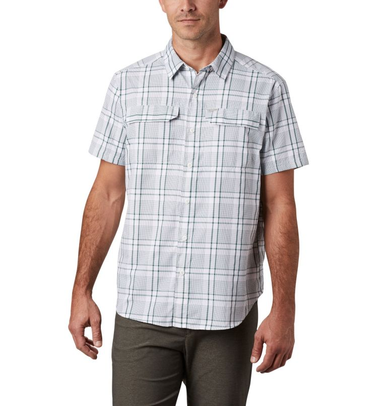 Silver Ridge™ 2.0 Multi Plaid S/S Shirt | 375 | M Men's Silver Ridge™ 2.0 Multi Plaid Short Sleeve Shirt, Rain Forest Grid Plaid, front