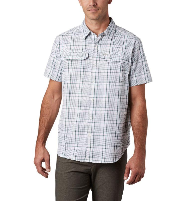 Silver Ridge™ 2.0 Multi Plaid S/S Shirt | 375 | M Men's Silver Ridge™ 2.0 Multi Plaid Short Sleeve Shirt, Rain Forest Grid Plaid, front
