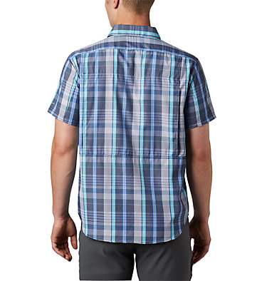 Men's Silver Ridge™ 2.0 Multi Plaid Short Sleeve Shirt Silver Ridge™ 2.0 Multi Plaid S/S Shirt | 369 | M, Sky Blue Multi Plaid, back