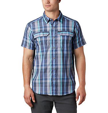 Men's Silver Ridge™ 2.0 Multi Plaid Short Sleeve Shirt Silver Ridge™ 2.0 Multi Plaid S/S Shirt | 369 | M, Sky Blue Multi Plaid, front