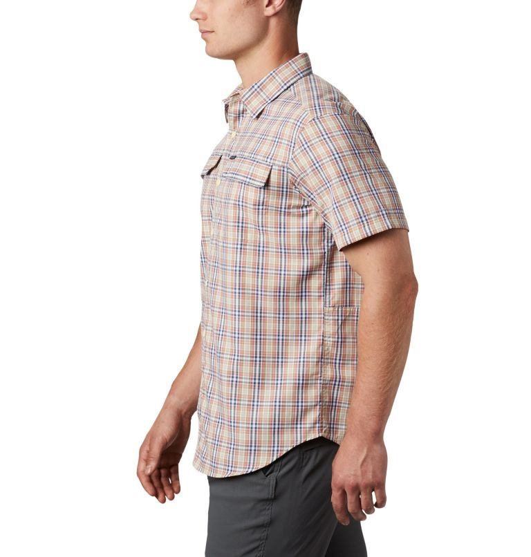 Silver Ridge™ 2.0 Multi Plaid S/S Shirt | 639 | XXL Men's Silver Ridge™ 2.0 Multi Plaid Short Sleeve Shirt, Dark Coral Gingham, a1