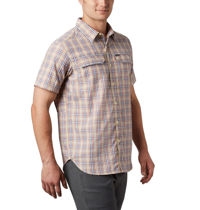 Silver Ridge™ 2.0 Multi Plaid S/S Shirt | 639 | XXL Men's Silver Ridge™ 2.0 Multi Plaid Short Sleeve Shirt, Dark Coral Gingham, a3