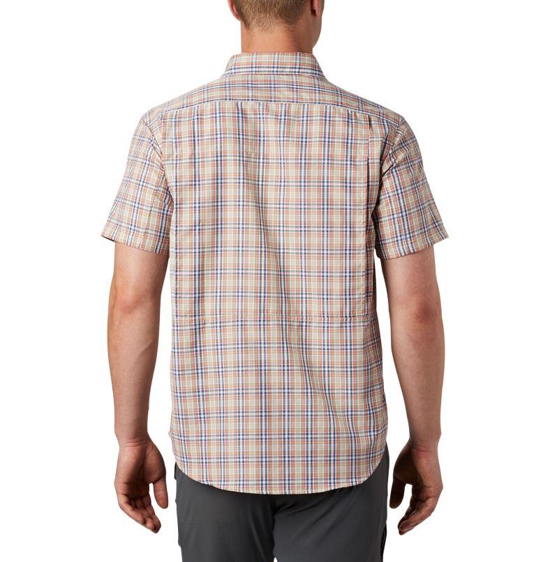 Silver Ridge™ 2.0 Multi Plaid S/S Shirt | 639 | M Men's Silver Ridge™ 2.0 Multi Plaid Short Sleeve Shirt, Dark Coral Gingham, back