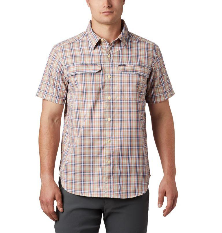 Silver Ridge™ 2.0 Multi Plaid S/S Shirt | 639 | M Men's Silver Ridge™ 2.0 Multi Plaid Short Sleeve Shirt, Dark Coral Gingham, front