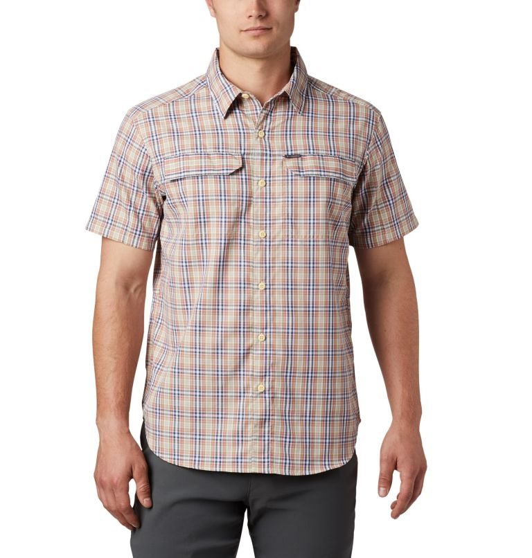 Silver Ridge™ 2.0 Multi Plaid S/S Shirt | 639 | XXL Men's Silver Ridge™ 2.0 Multi Plaid Short Sleeve Shirt, Dark Coral Gingham, front