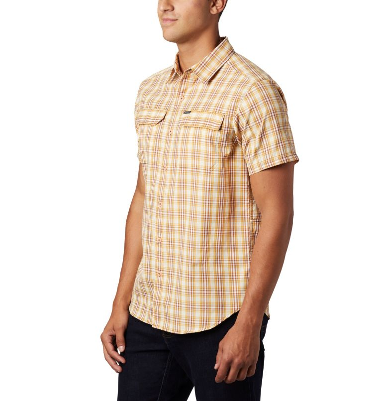 Silver Ridge™ 2.0 Multi Plaid S/S Shirt | 734 | M Men's Silver Ridge™ 2.0 Multi Plaid Short Sleeve Shirt, Dark Banana Gingham, a2