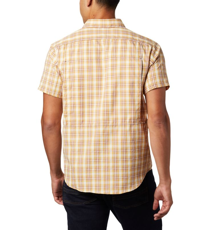 Silver Ridge™ 2.0 Multi Plaid S/S Shirt | 734 | M Men's Silver Ridge™ 2.0 Multi Plaid Short Sleeve Shirt, Dark Banana Gingham, back