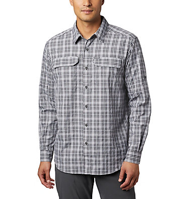 Men's Silver Ridge™ 2.0 Plaid Long Sleeve Shirt Silver Ridge™ 2.0 Plaid L/S Shirt | 012 | L, Black Gingham, front
