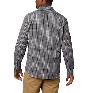 Men's Silver Ridge™ 2.0 Plaid Long Sleeve Shirt Silver Ridge™ 2.0 Plaid L/S Sh | 023 | XL, City Grey Plaid, back
