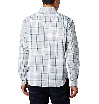 Men's Silver Ridge™ 2.0 Plaid Long Sleeve Shirt Silver Ridge™ 2.0 Plaid L/S Shirt | 257 | XXL, Rain Forest Grid Plaid, back