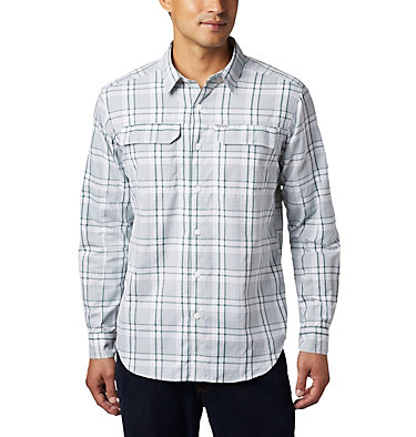 Men's Silver Ridge™ 2.0 Plaid Long Sleeve Shirt Silver Ridge™ 2.0 Plaid L/S Shirt | 257 | XXL, Rain Forest Grid Plaid, front