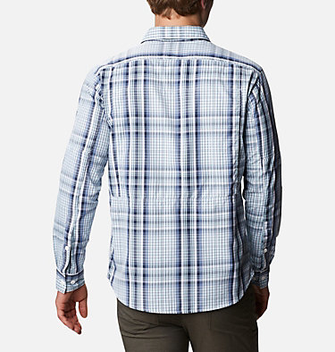 Men's Silver Ridge™ 2.0 Plaid Long Sleeve Shirt Silver Ridge™ 2.0 Plaid L/S Shirt | 257 | XXL, Sky Blue Multi Plaid, back