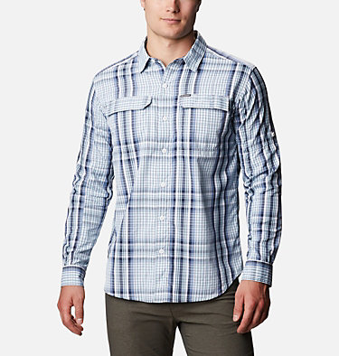 Men's Silver Ridge™ 2.0 Plaid Long Sleeve Shirt Silver Ridge™ 2.0 Plaid L/S Shirt | 257 | XXL, Sky Blue Multi Plaid, front