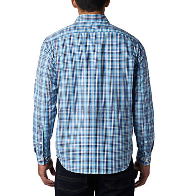 Men's Silver Ridge™ 2.0 Plaid Long Sleeve Shirt Silver Ridge™ 2.0 Plaid L/S Shirt | 257 | XXL, Azul Gingham, back