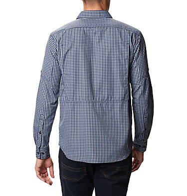 Men's Silver Ridge™ 2.0 Plaid Long Sleeve Shirt Silver Ridge™ 2.0 Plaid L/S Shirt | 257 | XXL, Bluestone Mini Plaid, back