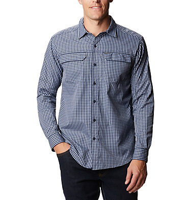 Men's Silver Ridge™ 2.0 Plaid Long Sleeve Shirt Silver Ridge™ 2.0 Plaid L/S Shirt | 257 | XXL, Bluestone Mini Plaid, front