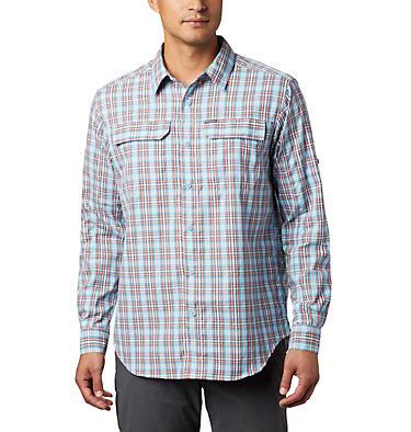 Men's Silver Ridge™ 2.0 Plaid Long Sleeve Shirt Silver Ridge™ 2.0 Plaid L/S Shirt | 257 | XXL, Clear Water Gingham, front