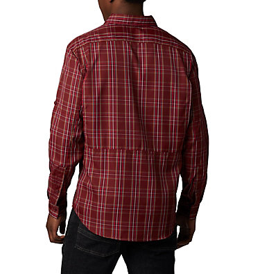Men's Silver Ridge™ 2.0 Plaid Long Sleeve Shirt Silver Ridge™ 2.0 Plaid L/S Shirt | 012 | L, Red Jasper Plaid, back