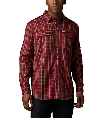 Men's Silver Ridge™ 2.0 Plaid Long Sleeve Shirt Silver Ridge™ 2.0 Plaid L/S Shirt | 012 | L, Red Jasper Plaid, front