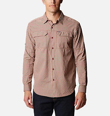 Men's Silver Ridge™ 2.0 Plaid Long Sleeve Shirt Silver Ridge™ 2.0 Plaid L/S Shirt | 257 | XXL, Red Jasper Mini Plaid, front