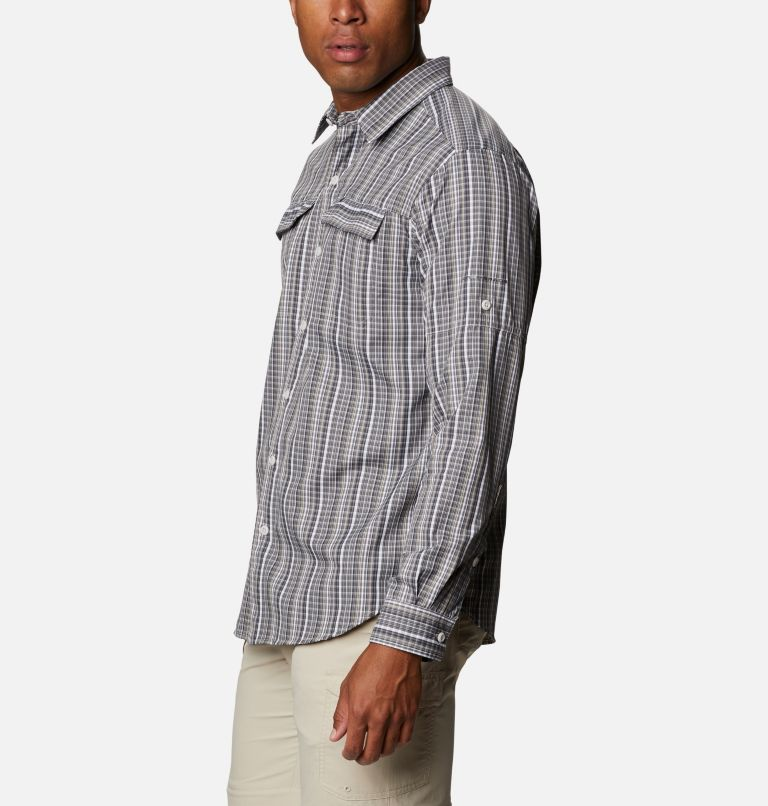 Silver Ridge™ 2.0 Plaid L/S Shirt | 043 | 4X Men's Silver Ridge™ 2.0 Plaid Long Sleeve Shirt - Big, Nimbus Grey Multi Grid, a1