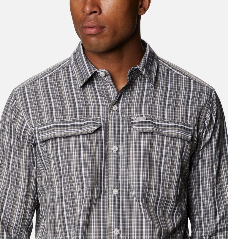 Silver Ridge™ 2.0 Plaid L/S Shirt | 043 | 4X Men's Silver Ridge™ 2.0 Plaid Long Sleeve Shirt - Big, Nimbus Grey Multi Grid, a2