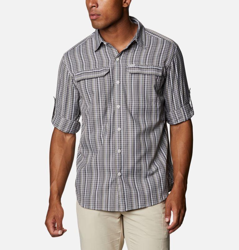 Silver Ridge™ 2.0 Plaid L/S Shirt | 043 | 4X Men's Silver Ridge™ 2.0 Plaid Long Sleeve Shirt - Big, Nimbus Grey Multi Grid, a4