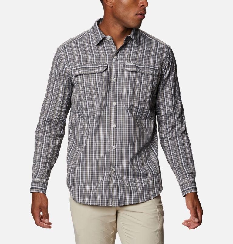 Silver Ridge™ 2.0 Plaid L/S Shirt | 043 | 4X Men's Silver Ridge™ 2.0 Plaid Long Sleeve Shirt - Big, Nimbus Grey Multi Grid, front