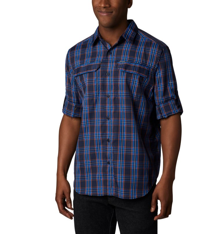 Men's Silver Ridge™ 2.0 Plaid Long Sleeve Shirt—Big Men's Silver Ridge™ 2.0 Plaid Long Sleeve Shirt—Big, a3