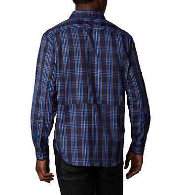 Men's Silver Ridge™ 2.0 Plaid Long Sleeve Shirt—Big Silver Ridge™ 2.0 Plaid L/S Sh | 465 | 3X, Collegiate Navy Plaid, back