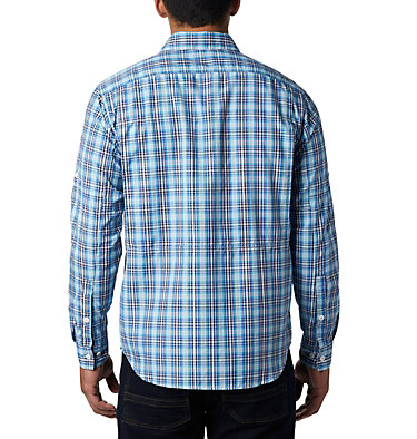Men's Silver Ridge™ 2.0 Plaid Long Sleeve Shirt—Tall Silver Ridge™ 2.0 Plaid L/S Shirt | 012 | 2XT, Azul Gingham, back