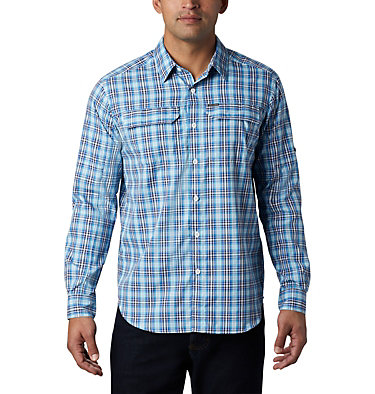 Men's Silver Ridge™ 2.0 Plaid Long Sleeve Shirt—Tall Silver Ridge™ 2.0 Plaid L/S Shirt | 012 | 2XT, Azul Gingham, front