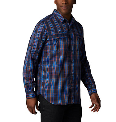 Men's Silver Ridge™ 2.0 Plaid Long Sleeve Shirt—Tall Silver Ridge™ 2.0 Plaid L/S Sh | 023 | 2XT, Collegiate Navy Plaid, front