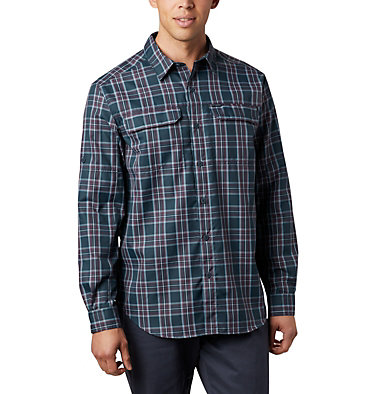Men's Silver Ridge™ 2.0 Plaid Long Sleeve Shirt—Tall Silver Ridge™ 2.0 Plaid L/S Sh | 023 | 2XT, Night Shadow Plaid, front