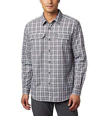 Men's Silver Ridge™ 2.0 Plaid Long Sleeve Shirt Silver Ridge™ 2.0 Plaid L/S Shirt | 024 | XS, Black Gingham, front