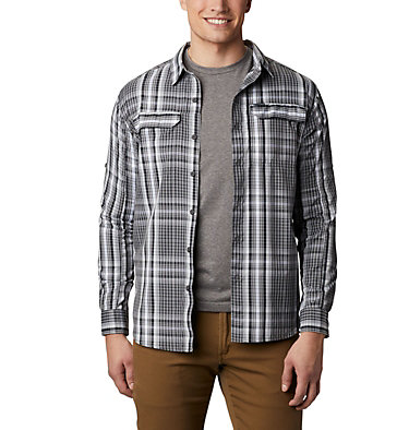 Men's Silver Ridge™ 2.0 Plaid Long Sleeve Shirt Silver Ridge™ 2.0 Plaid L/S Shirt | 024 | XS, City Grey Multi Plaid, front