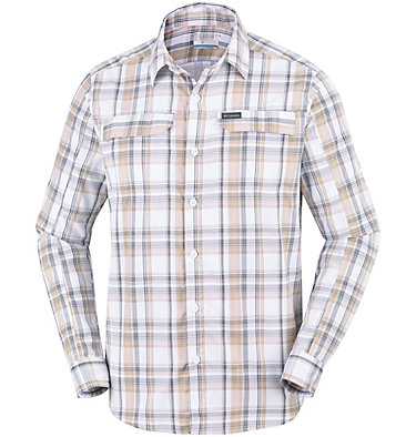 Men's Silver Ridge™ 2.0 Plaid Long Sleeve Shirt Silver Ridge™ 2.0 Plaid L/S Shirt   012   M, Beach Plaid, front