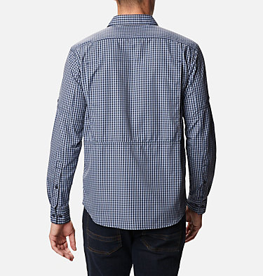 Men's Silver Ridge™ 2.0 Plaid Long Sleeve Shirt Silver Ridge™ 2.0 Plaid L/S Shirt | 024 | XS, Bluestone Mini Plaid, back