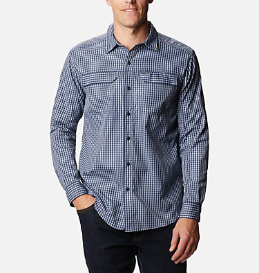 Men's Silver Ridge™ 2.0 Plaid Long Sleeve Shirt Silver Ridge™ 2.0 Plaid L/S Shirt | 024 | XS, Bluestone Mini Plaid, front