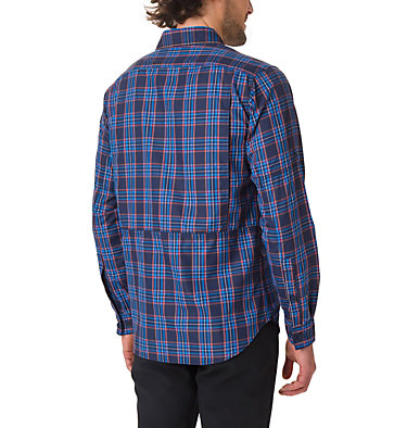 Men's Silver Ridge™ 2.0 Plaid Long Sleeve Shirt Silver Ridge™ 2.0 Plaid L/S Shirt | 024 | XS, Collegiate Navy Plaid, back
