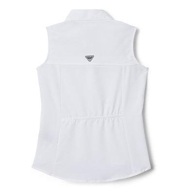 Girls' PFG Tamiami™ Sleeveless Shirt Tamiami™ Sleeveless Shirt | 384 | M, White, back