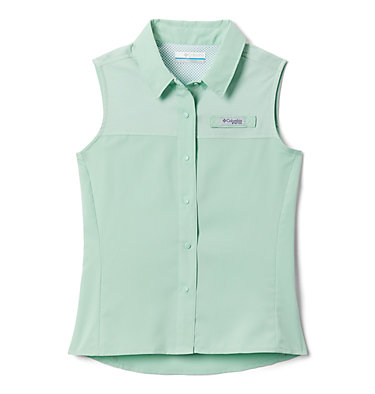 Girls' PFG Tamiami™ Sleeveless Shirt Tamiami™ Sleeveless Shirt | 384 | M, New Mint, front