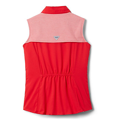 Girls' PFG Tamiami™ Sleeveless Shirt Tamiami™ Sleeveless Shirt | 384 | M, Red Lily, back