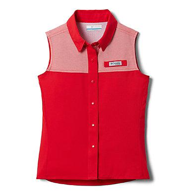 Girls' PFG Tamiami™ Sleeveless Shirt Tamiami™ Sleeveless Shirt | 384 | M, Red Lily, front