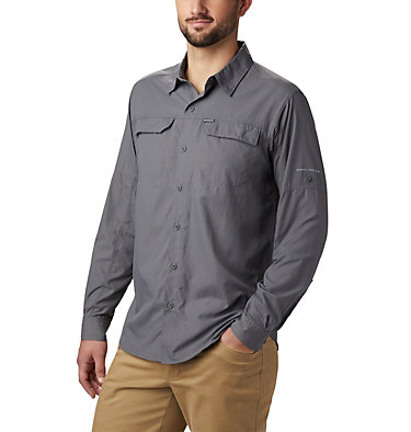 Men's Silver Ridge™ 2.0 Long Sleeve Shirt—Big Silver Ridge™2.0 Long Sleeve Shirt | 449 | 3X, City Grey, front