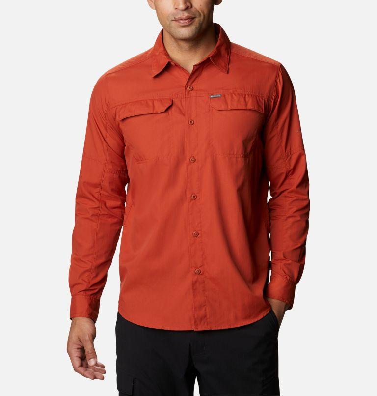 Silver Ridge™2.0 Long Sleeve Shirt   248   2X Men's Silver Ridge™ 2.0 Long Sleeve Shirt—Big, Dark Sienna, front